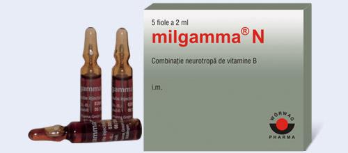 varicoză și milgamma)